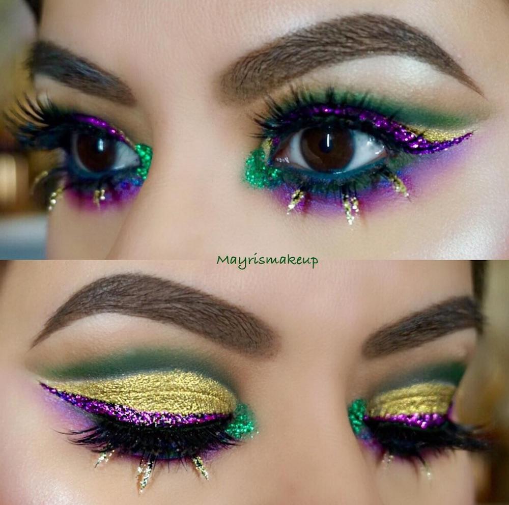 Mardi Gras Inspired Makeup Looks