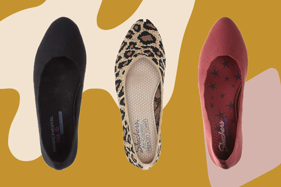 Skechers Ballet Flats Are Rothy's Dupes