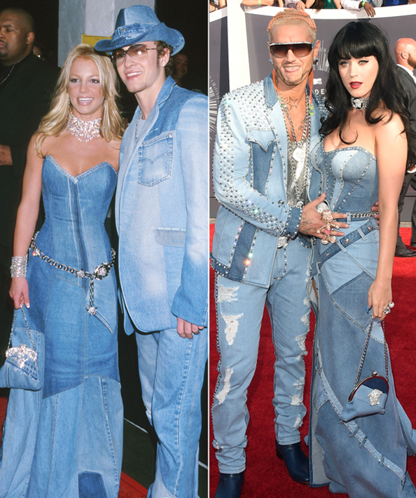 Katy Perry Rocks Britney Spears All Denim Gown Instyle