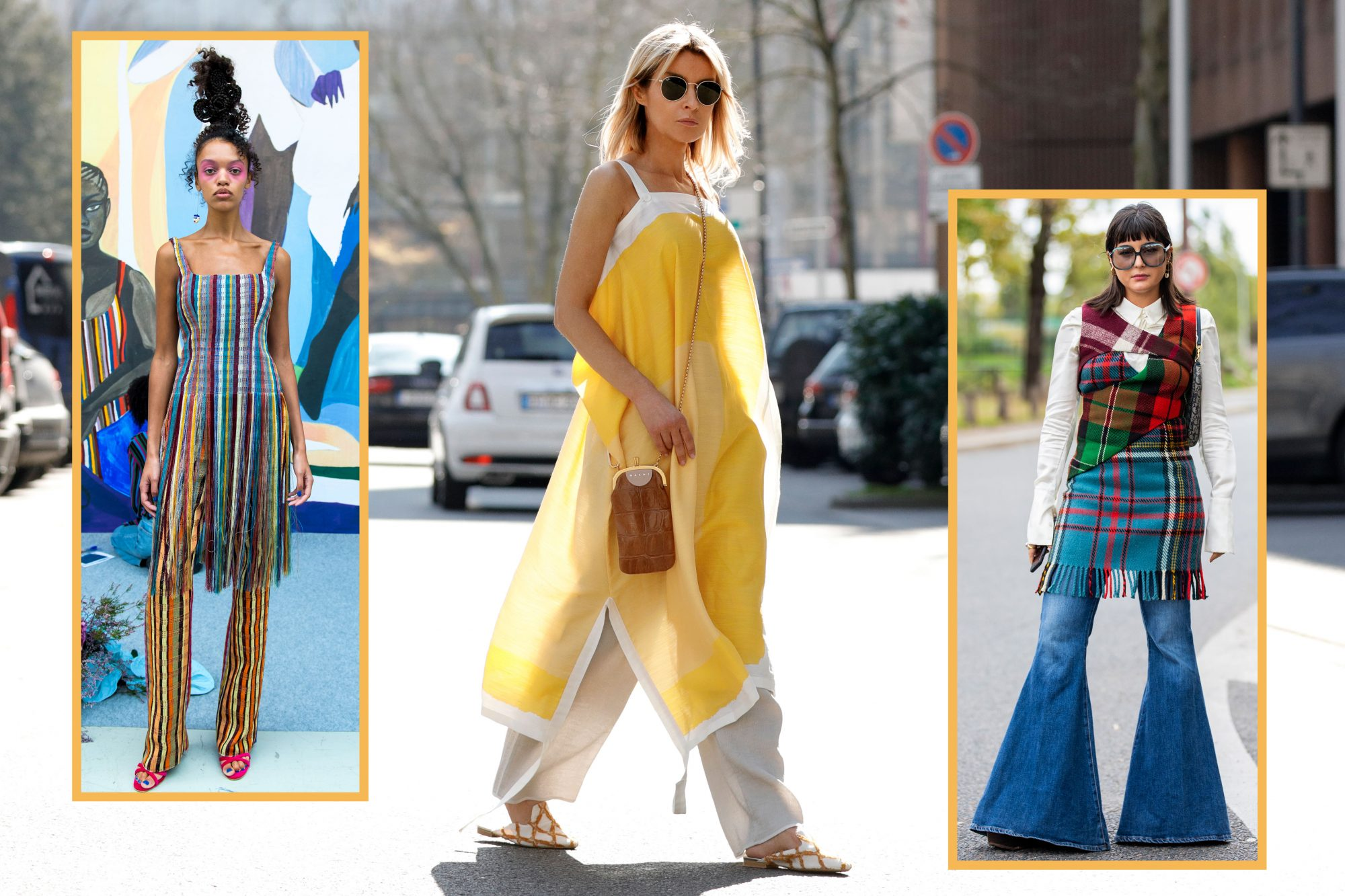 The Confusing Dress-Over-Pants Trend From the '00s Is Back For 2021 |  InStyle