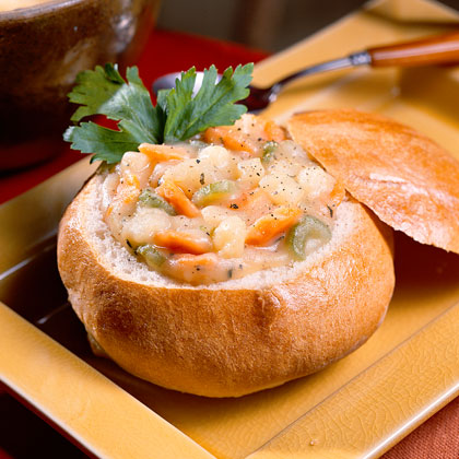Italian Bread Bowls Recipe Myrecipes