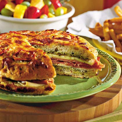 Pesto Focaccia Sandwich Recipe Myrecipes