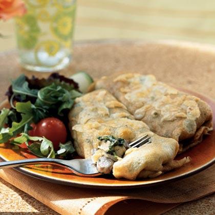 Chicken Spinach And Mushroom Crepes Recipe Myrecipes