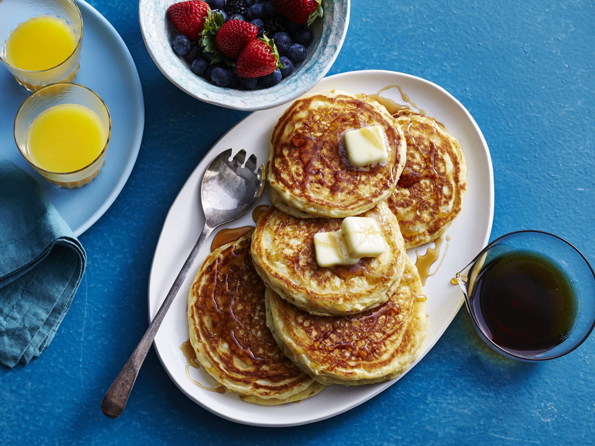 Basic Buttermilk Pancakes Recipe Myrecipes