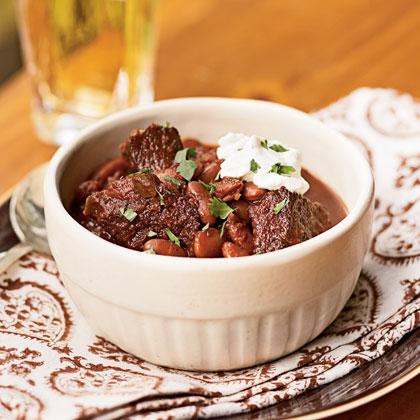 Ancho Beef And Kidney Bean Chili Recipe Myrecipes