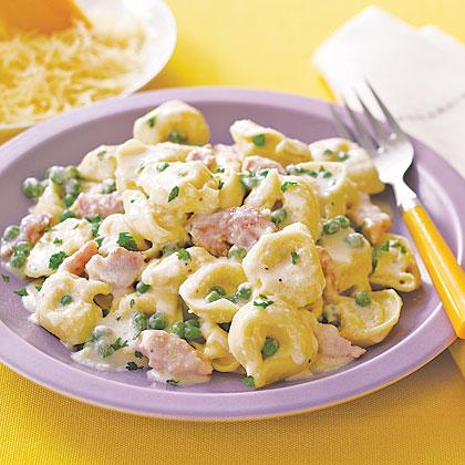 Tortellini With Ham And Peas Recipe Myrecipes