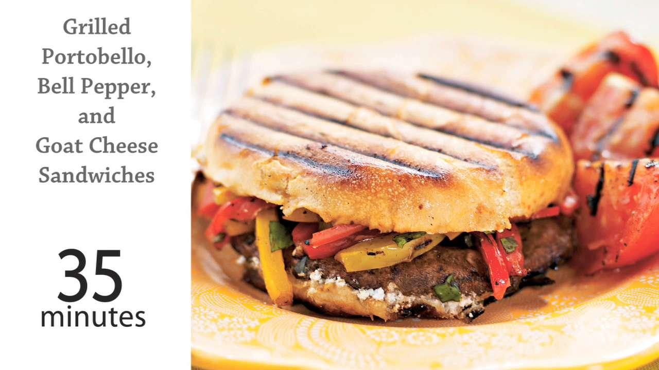 Grilled Portobello Bell Pepper Goat Cheese Sandwiches Recipe Myrecipes