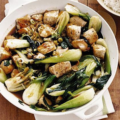 Chicken And Bok Choy Stir Fry Recipe Myrecipes