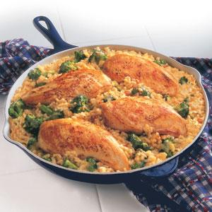 Campbell S 15 Minute Chicken Rice Dinner Recipe Myrecipes