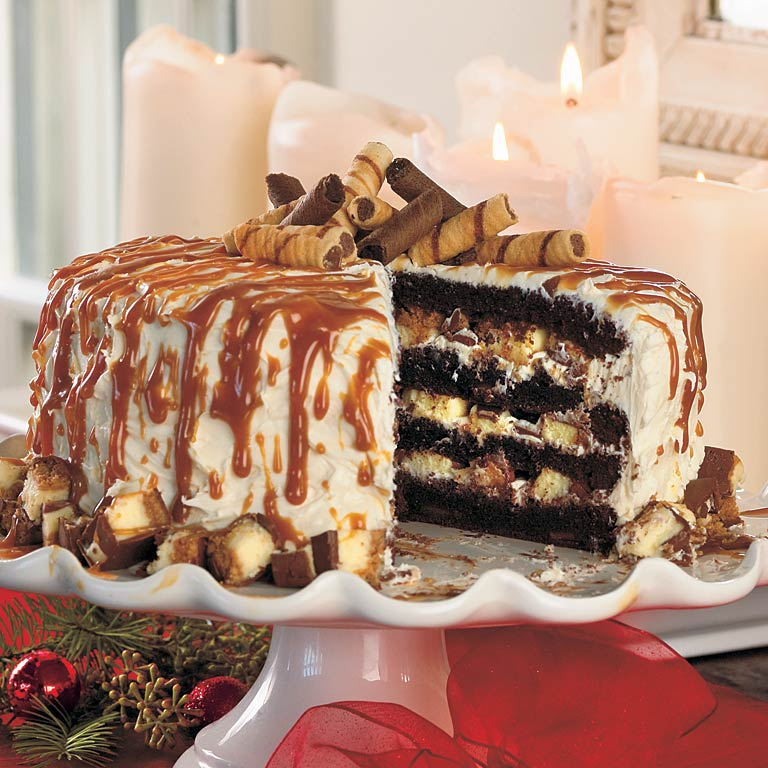 Cheesecake Stuffed Dark Chocolate Cake Recipe Myrecipes