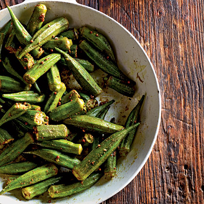 Indian Spiced Okra Recipe Myrecipes