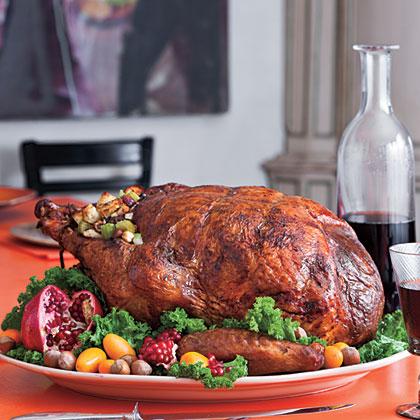 Roasted Turkey Stuffed With Hazelnut Dressing Recipe Myrecipes