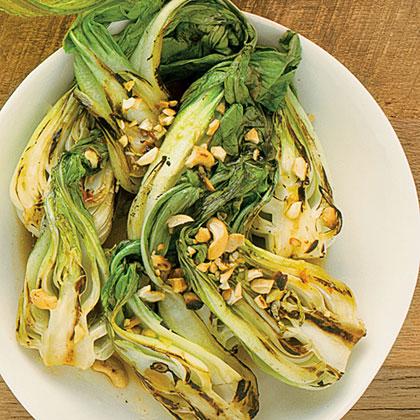 Spicy Garlic Grilled Baby Bok Choy Recipe Myrecipes
