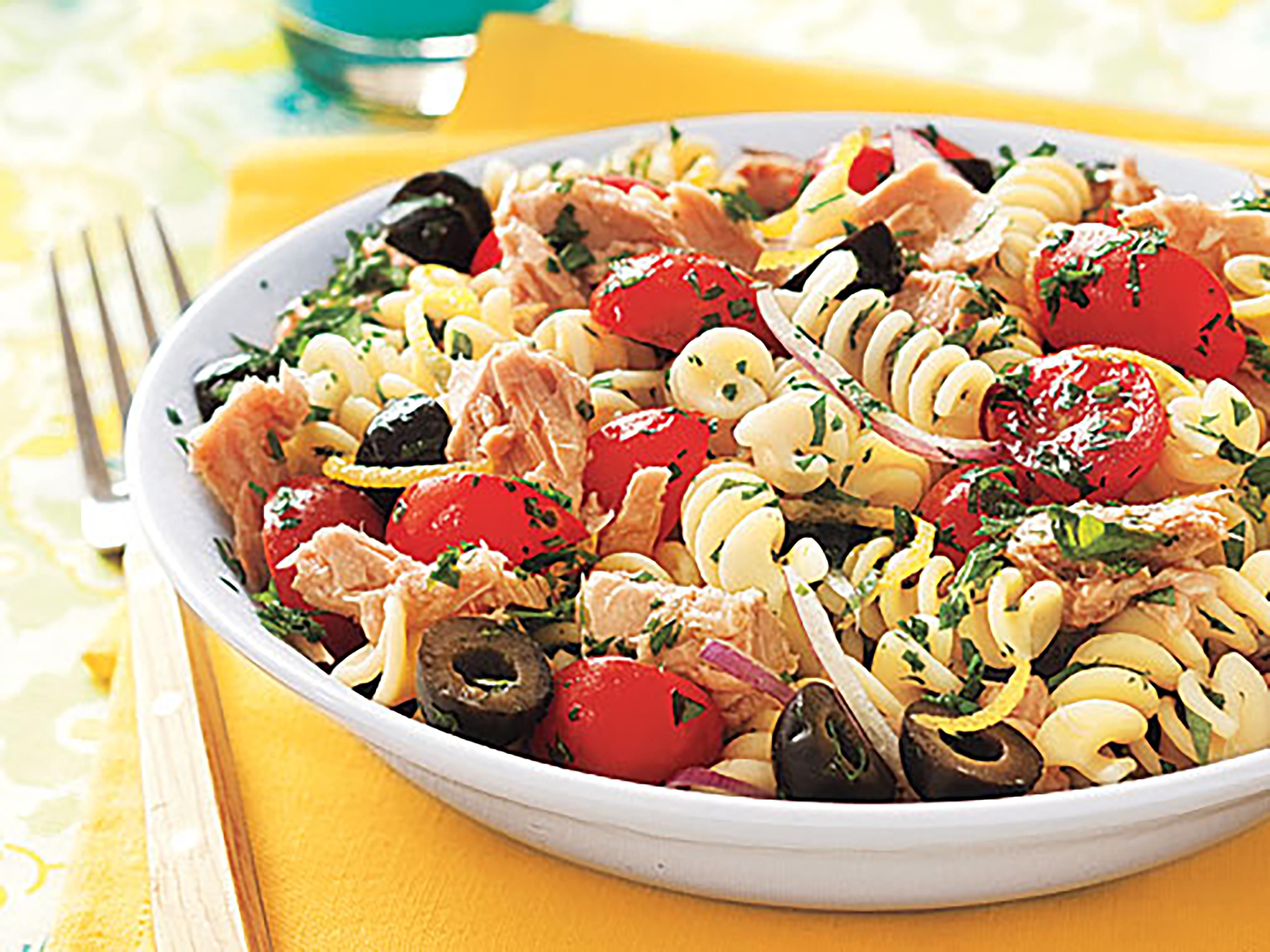 Pasta Salad With Tuna Olives And Parsley Recipe Myrecipes