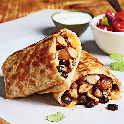 Chicken And Bean Burritos Recipe Myrecipes