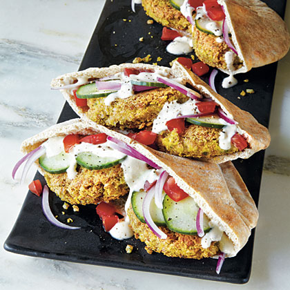 Mini Falafel Pocket Sandwiches Recipe Myrecipes