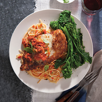 Chicken Parmesan With Spaghetti Recipe Myrecipes