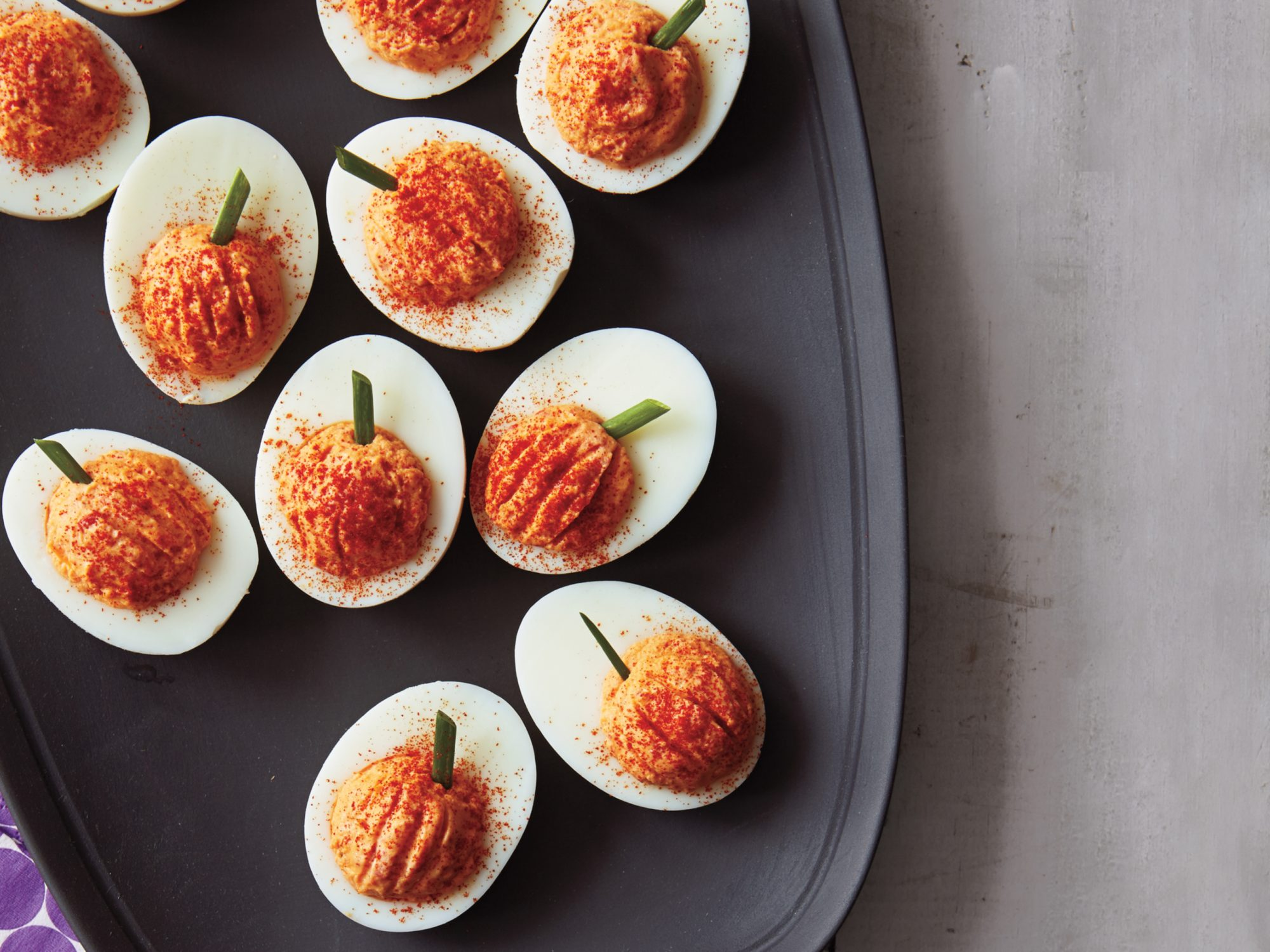 Roasted Red Pepper Deviled Eggs Recipe Myrecipes