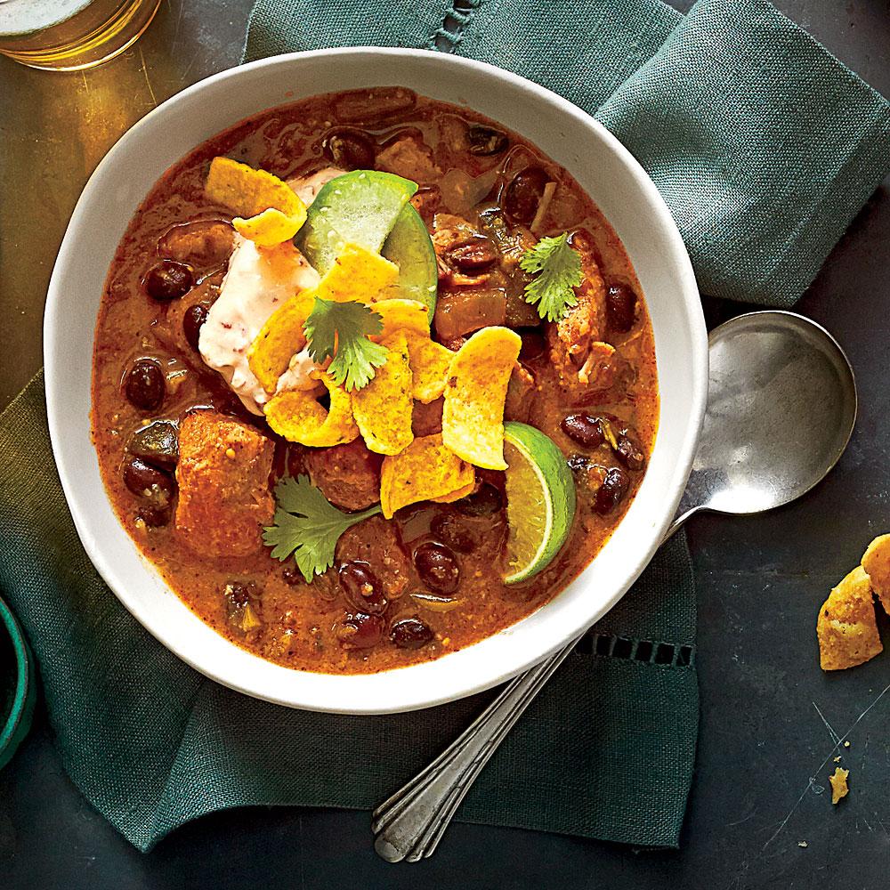 Pork And Black Bean Chili Recipe Myrecipes