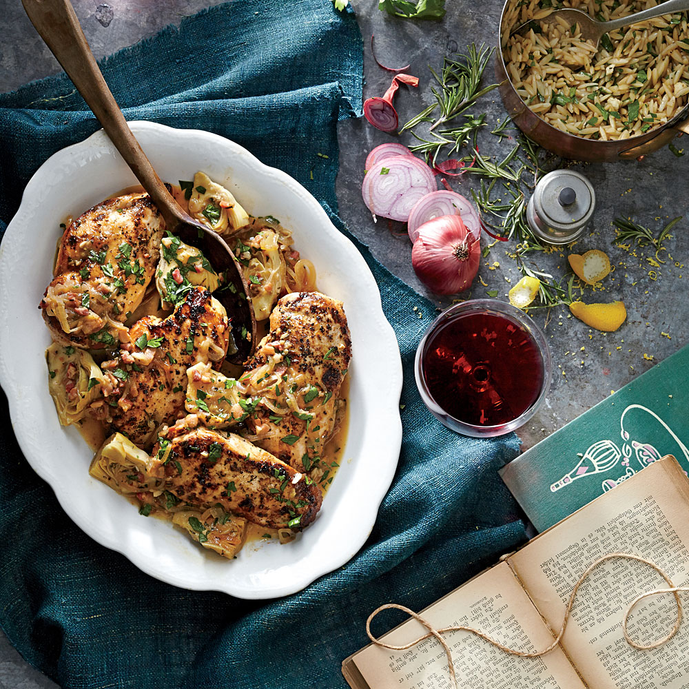 Chicken With Artichoke Pan Sauce Recipe Myrecipes