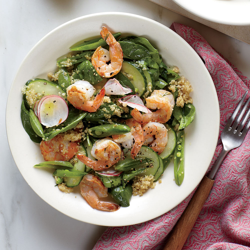 Spinach And Quinoa Salad With Shrimp Recipe Myrecipes