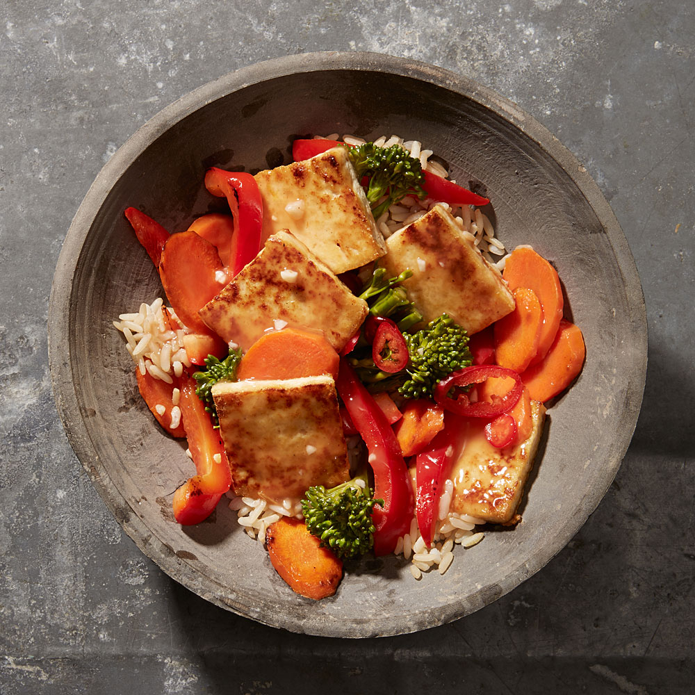 Sweet And Sour Tofu Vegetable Stir Fry Recipe Myrecipes