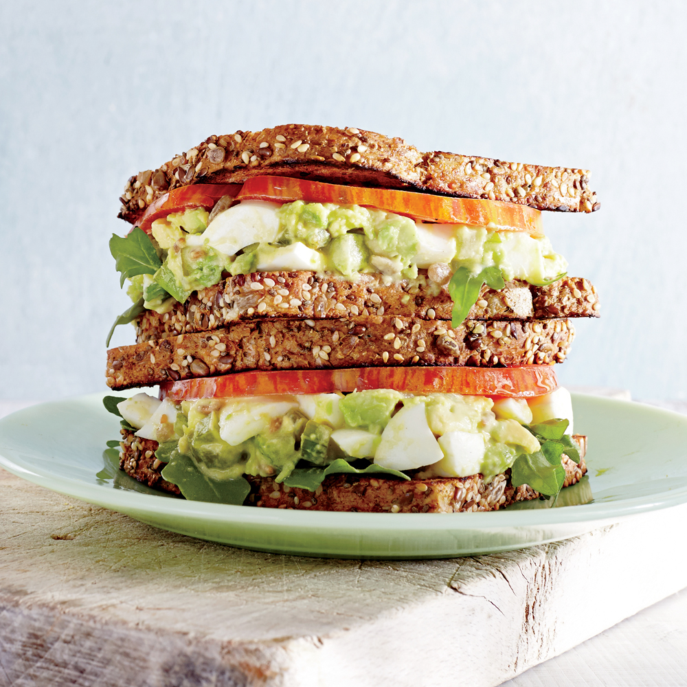 Avocado Egg Salad Sandwiches With Pickled Celery Recipe Myrecipes