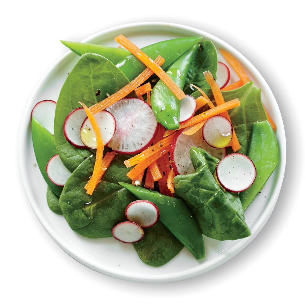 Spinach Salad With Sugar Snap Peas And Carrot Recipe Myrecipes