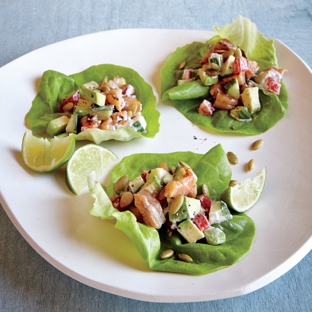 Chipotle Shrimp Lettuce Wraps Recipe Myrecipes