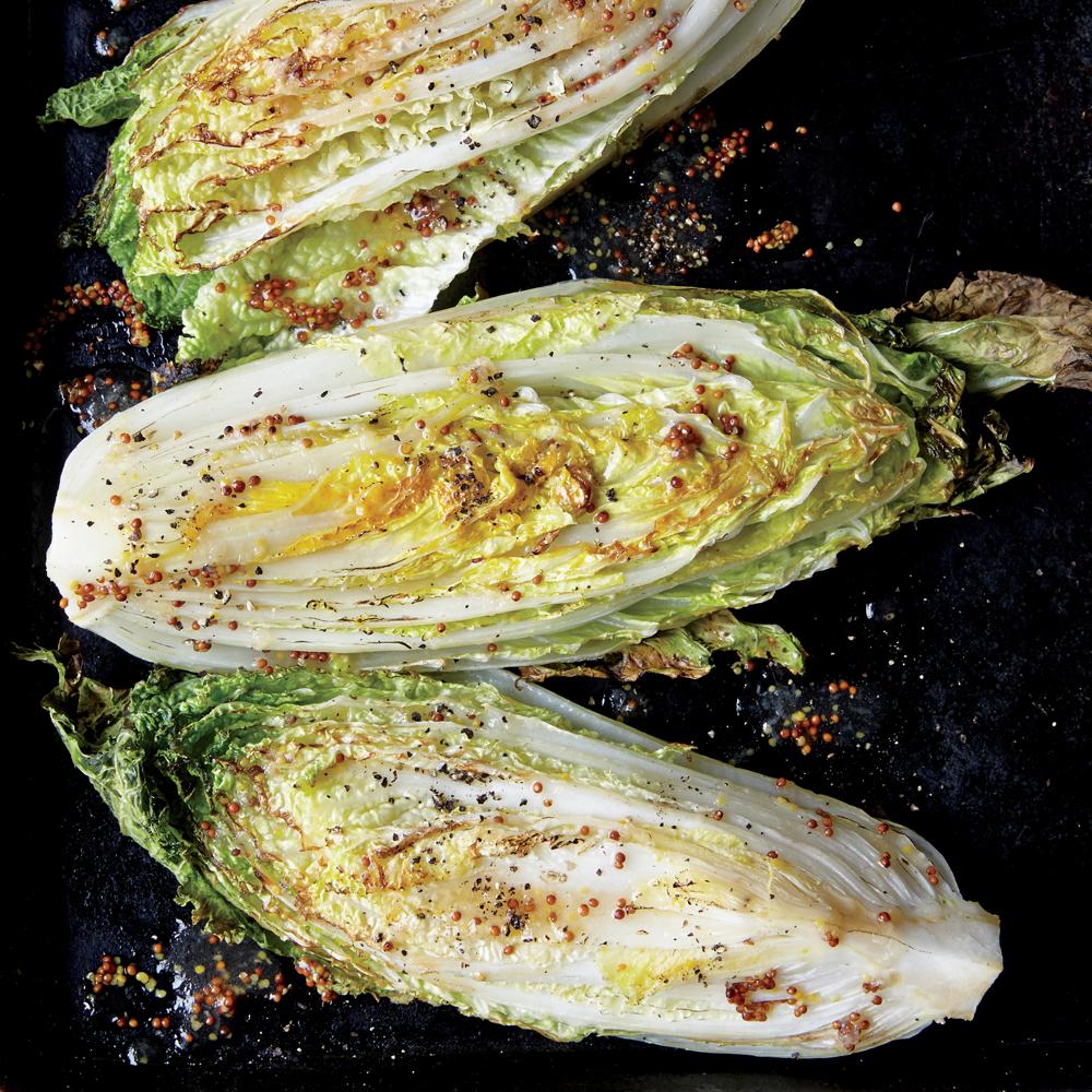 Sweet And Sour Roasted Napa Cabbage Wedges Recipe Myrecipes