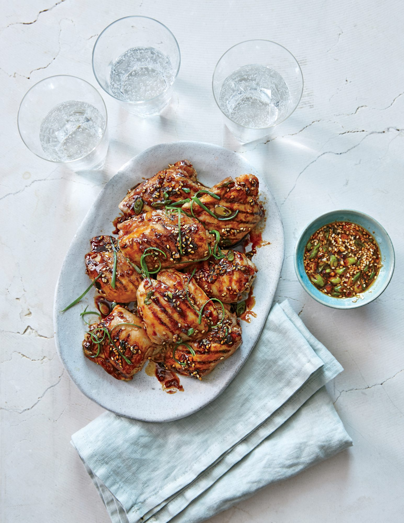 Chicken Thighs With Ginger Sesame Glaze Recipe Myrecipes