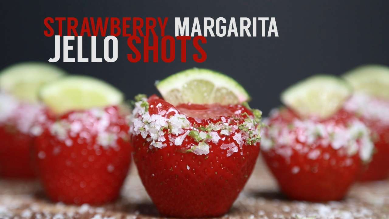 Strawberry Margarita Jell O Shots Recipe Myrecipes