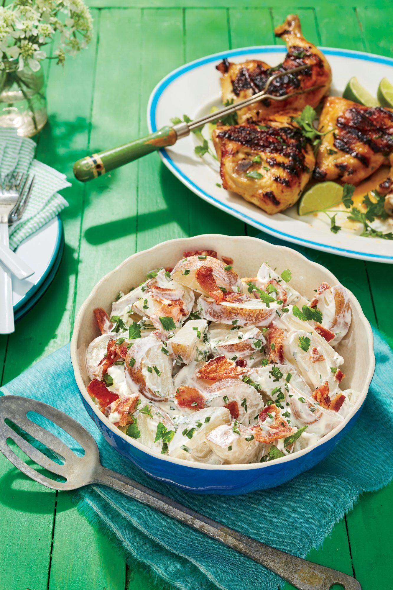 Sweet Potato Salad With Sour Cream