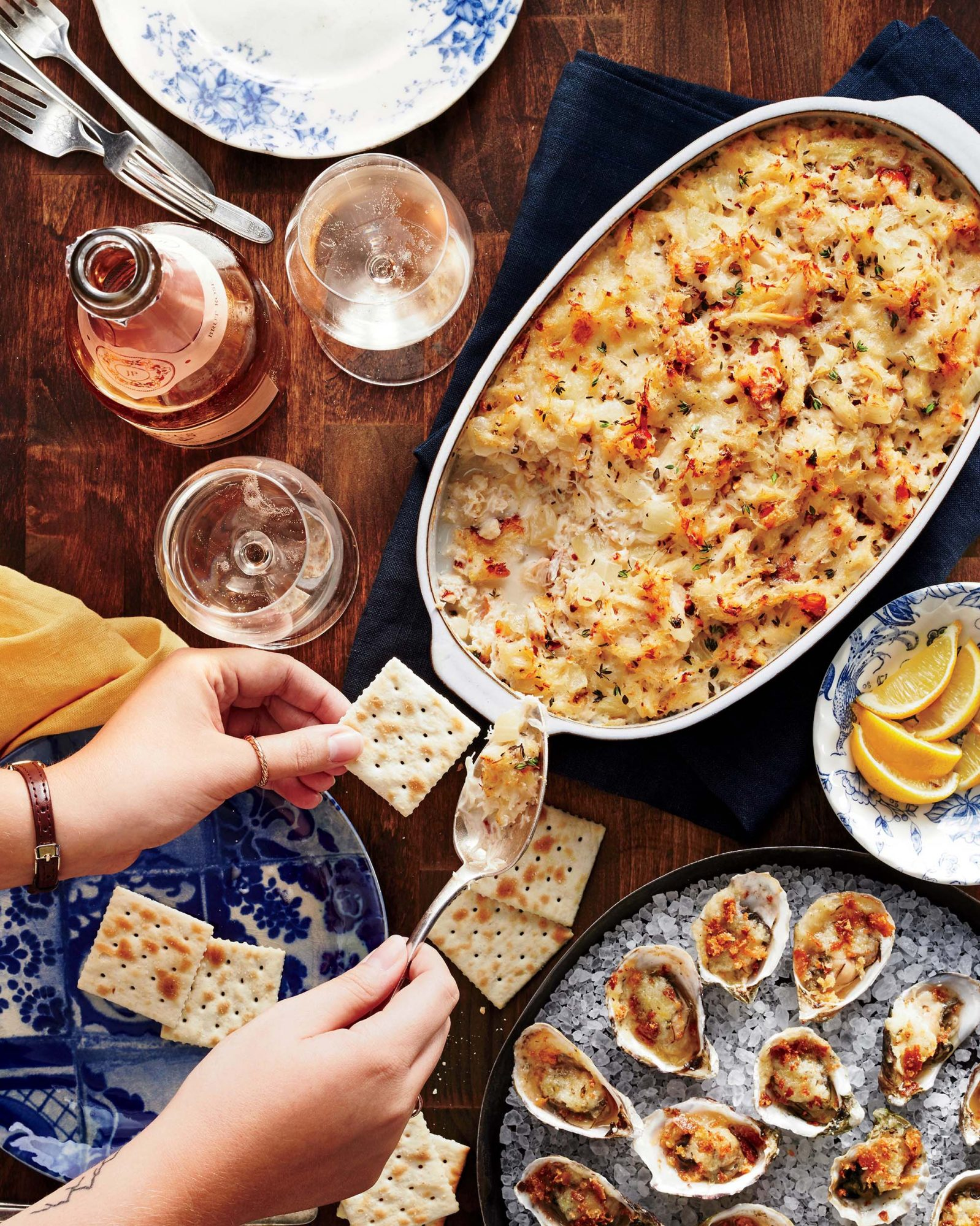 Baked Oysters with Horseradish Butter Recipe   MyRecipes