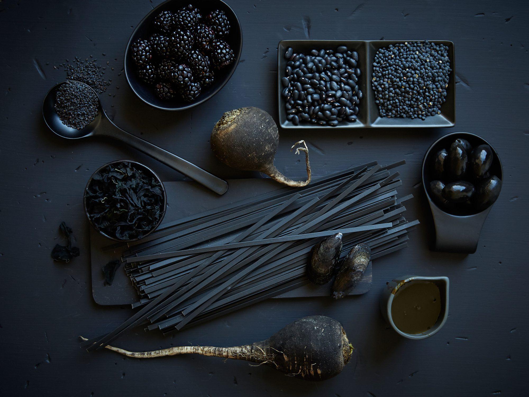 6 All Black Foods For A Deliciously Dark Halloween Spread Myrecipes