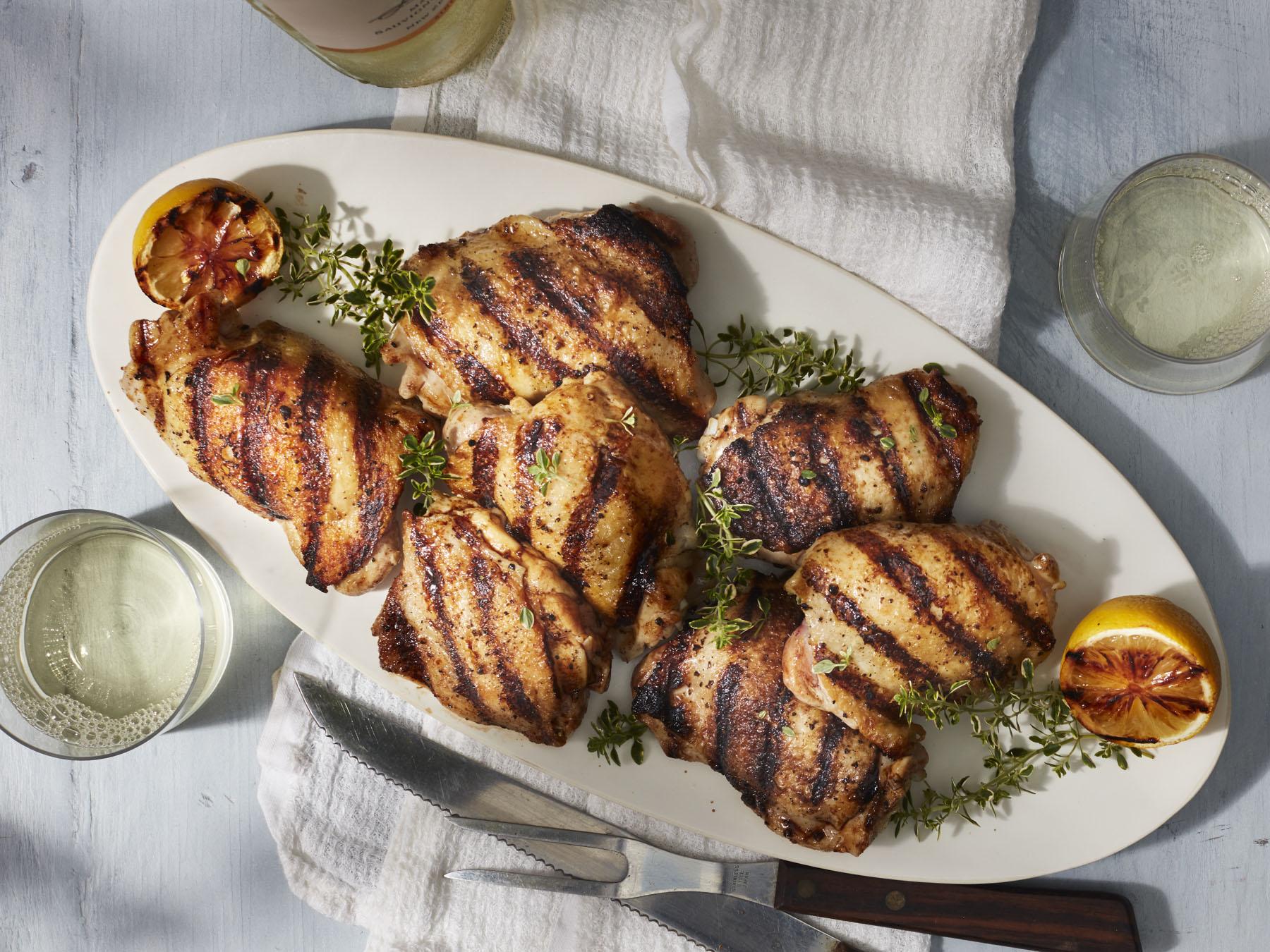 Grilled Bone In Chicken Thighs Recipe Myrecipes