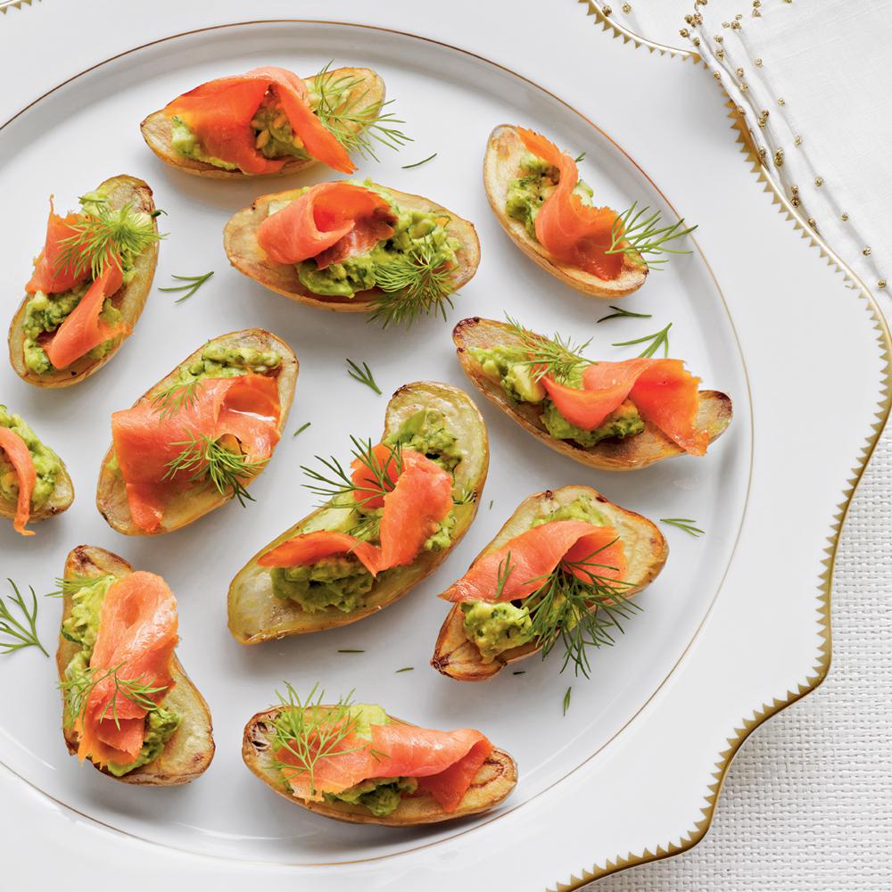Fingerling Potatoes With Avocado Smoked Salmon Recipe Myrecipes