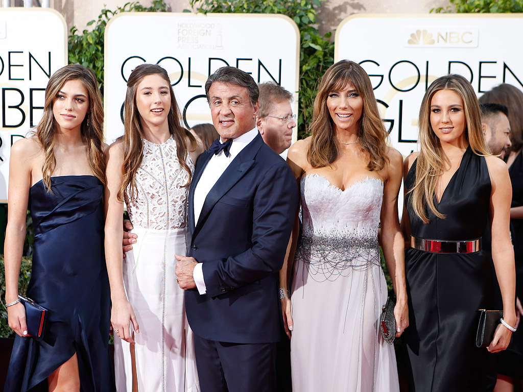 Sylvester Stallone S Daughters What To Know About Sophia Sistine Scarlet People Com