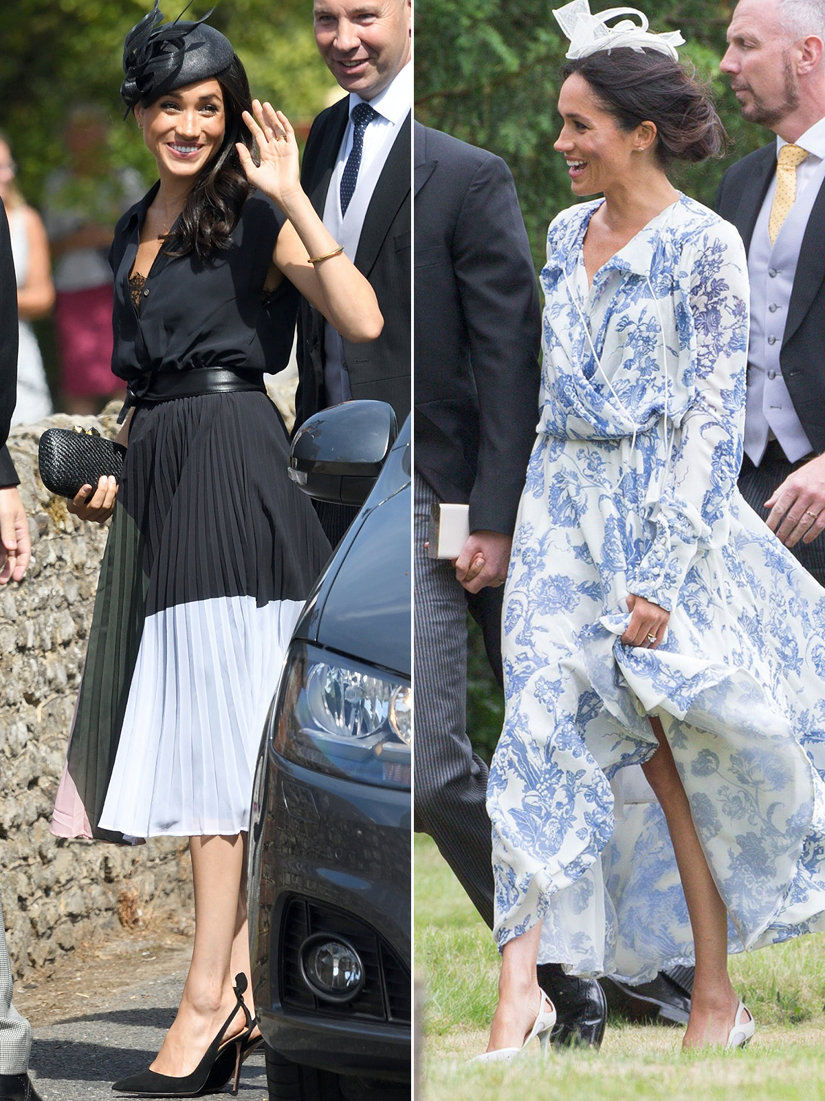 Meghan Markle S Two Summer Wedding Looks A Comparison People Com