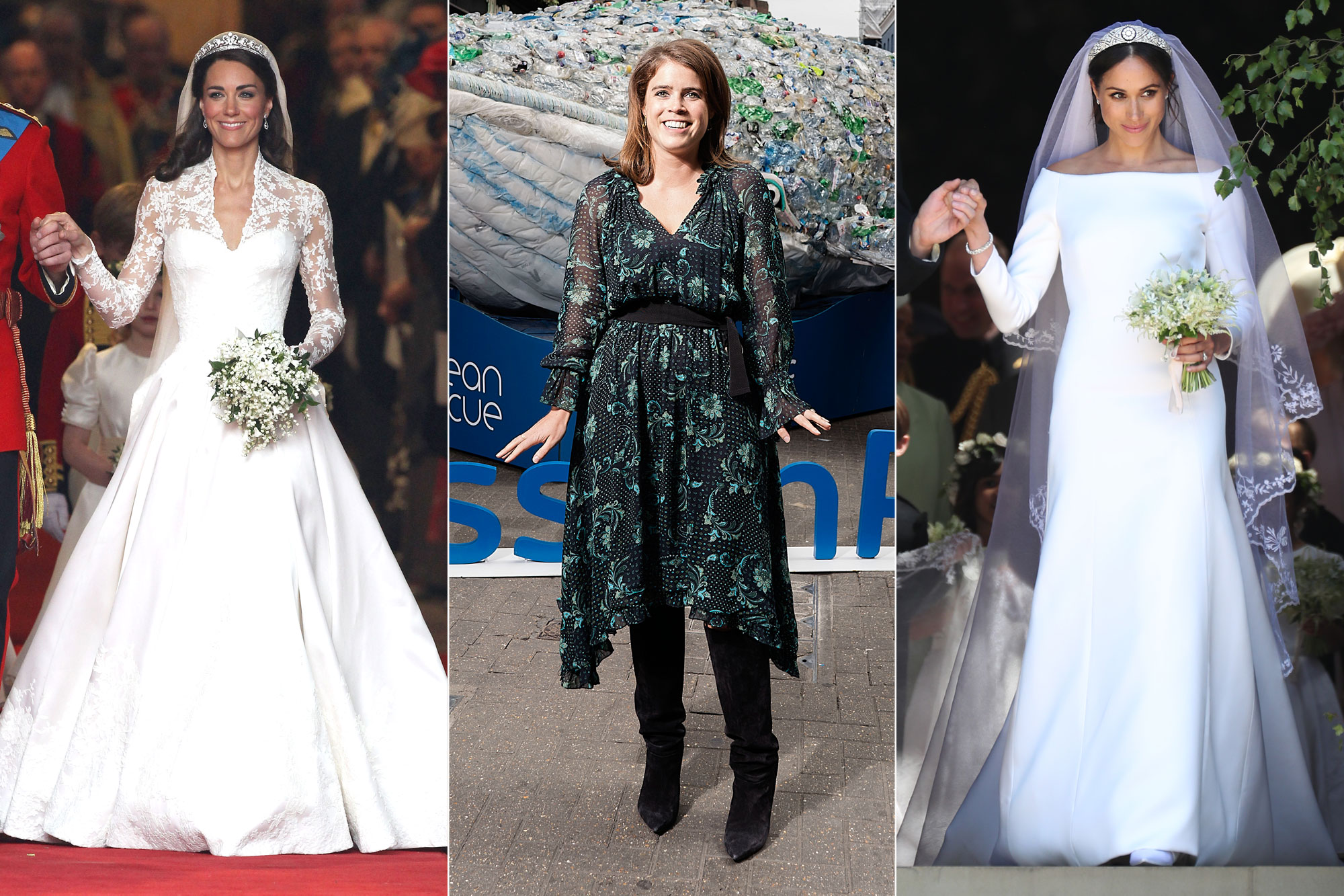 How Eugenie S Wedding Dress Will Compare To Meghan And Kate S