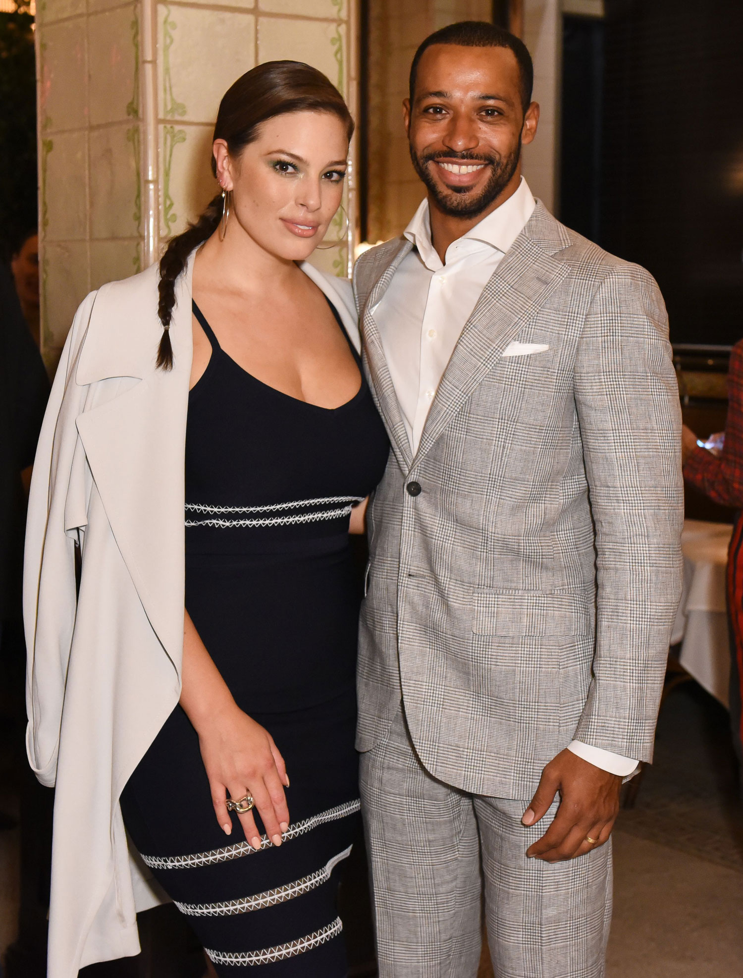 Ashley Graham with cool, friendly, enigmatic, Husband Justin Ervin