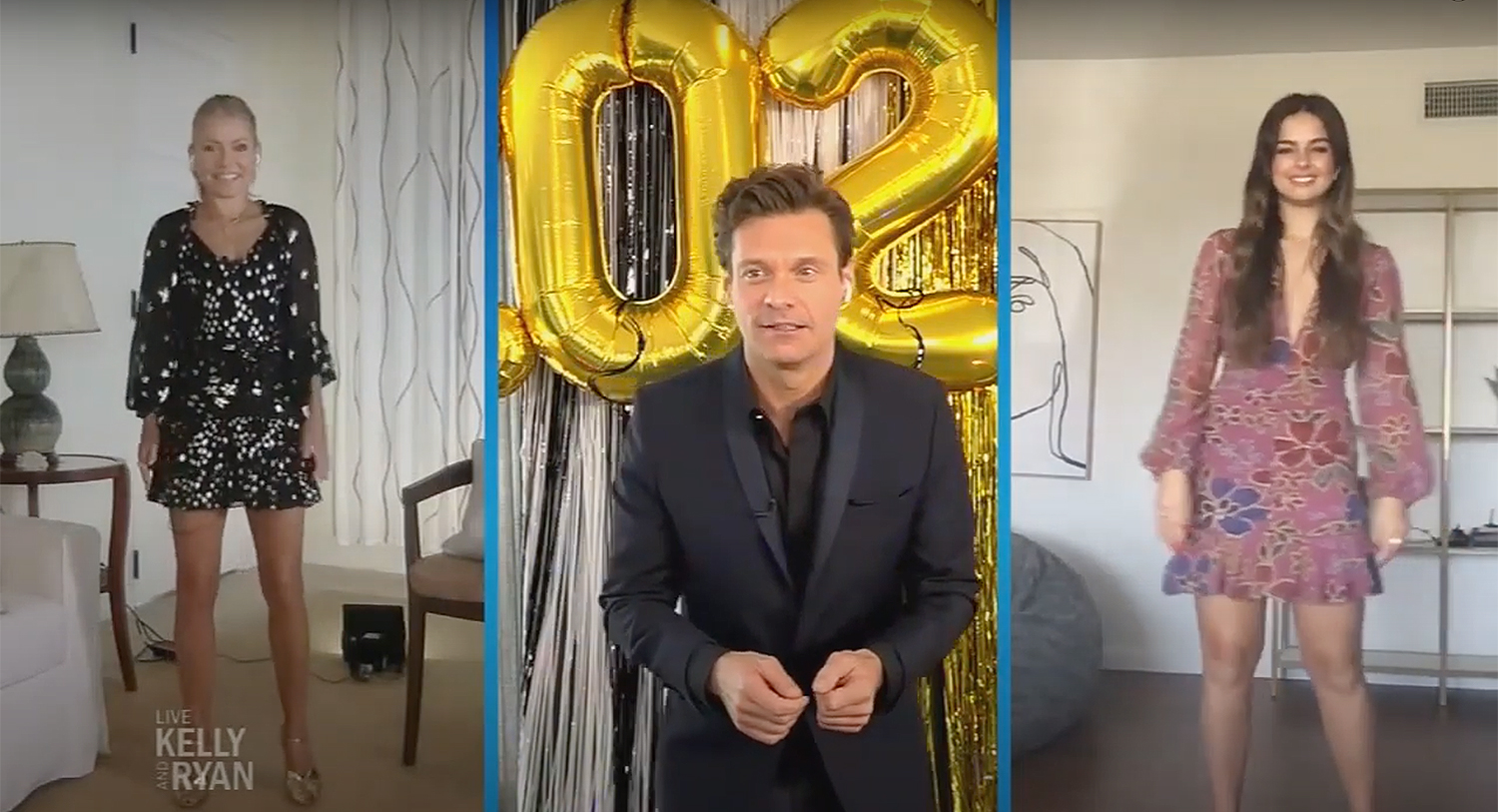 Kelly Ripa And Ryan Seacrest Host At Home Prom On Live People Com