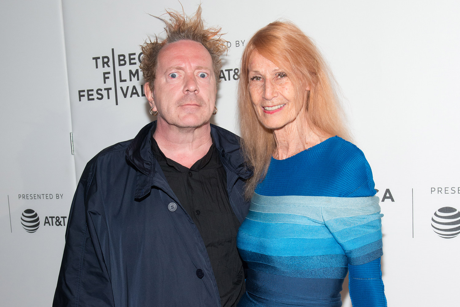 John Lydon with friendly, Wife Nora Forster