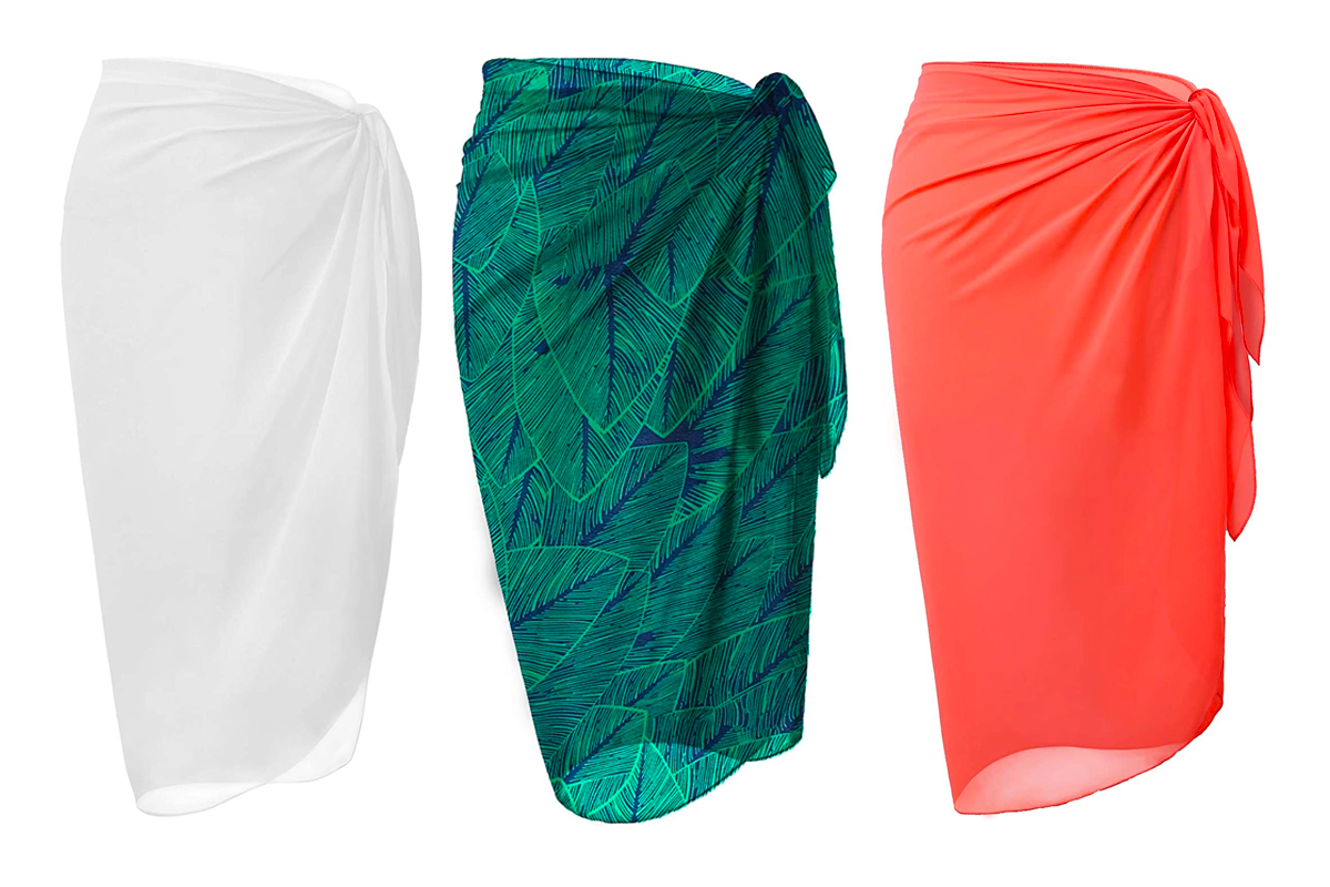 Amazon Shoppers Love The Lienridy Wrap Skirt Swimsuit Cover Up People Com