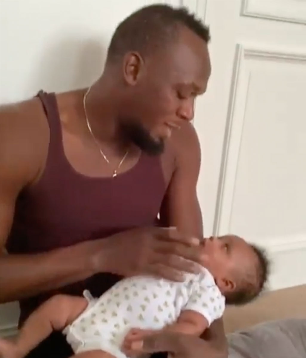 Usain Bolt Shares Adorable Video Talking To Baby Olympia People Com