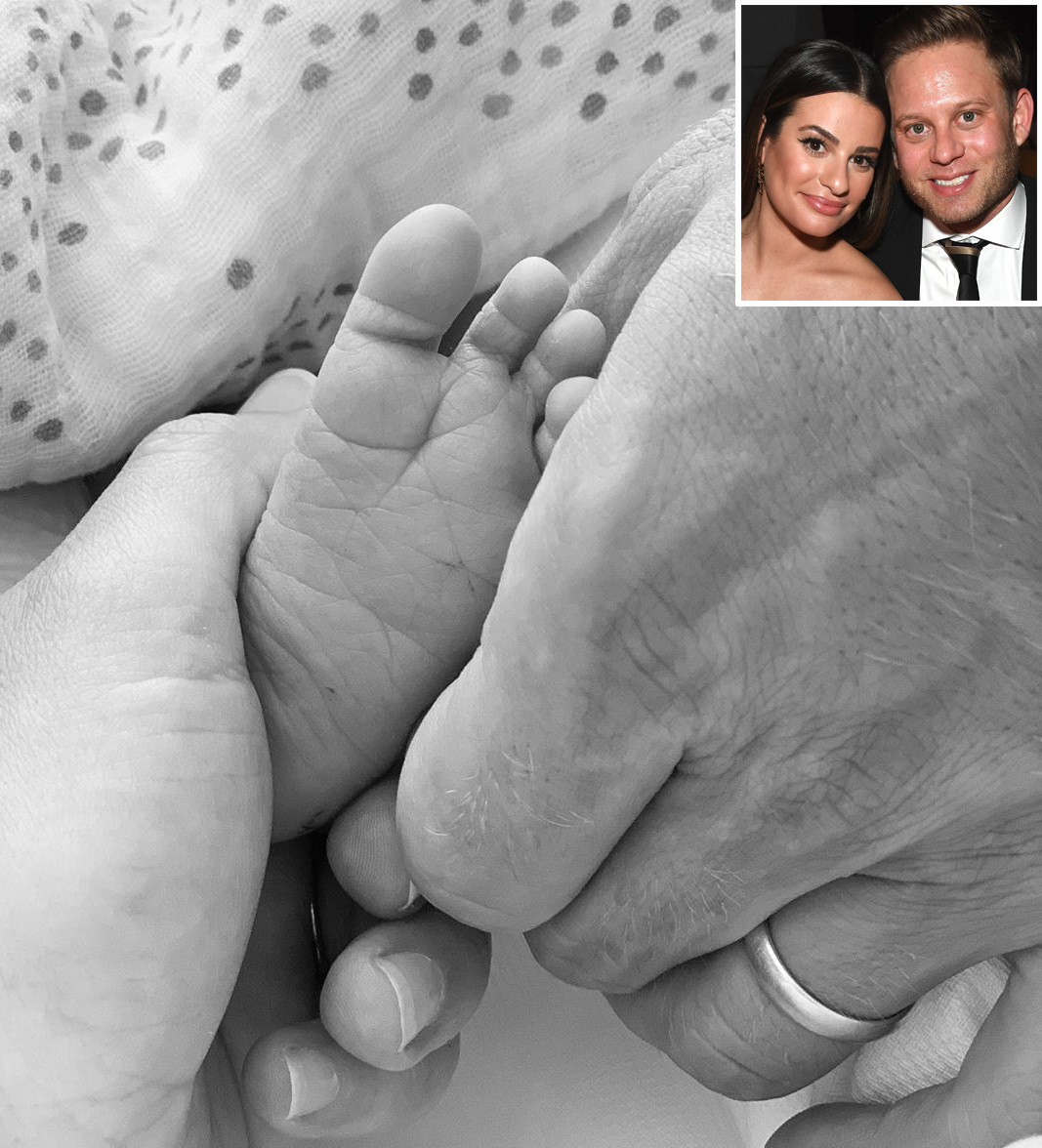 Lea Michele Shares First Photo Of Newborn Son Forever Grateful People Com