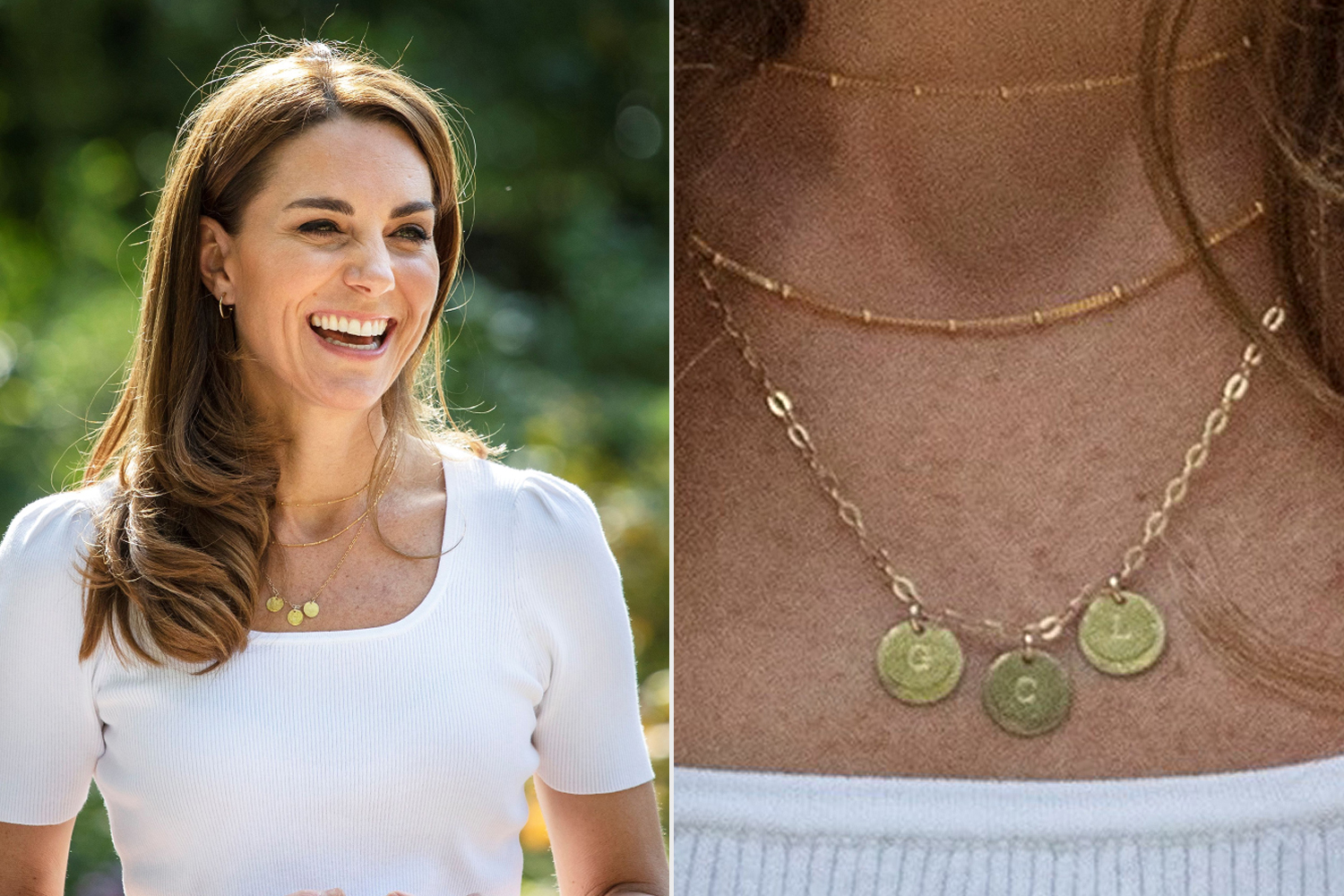 kate middleton necklace features kids initials people com kate middleton necklace features kids