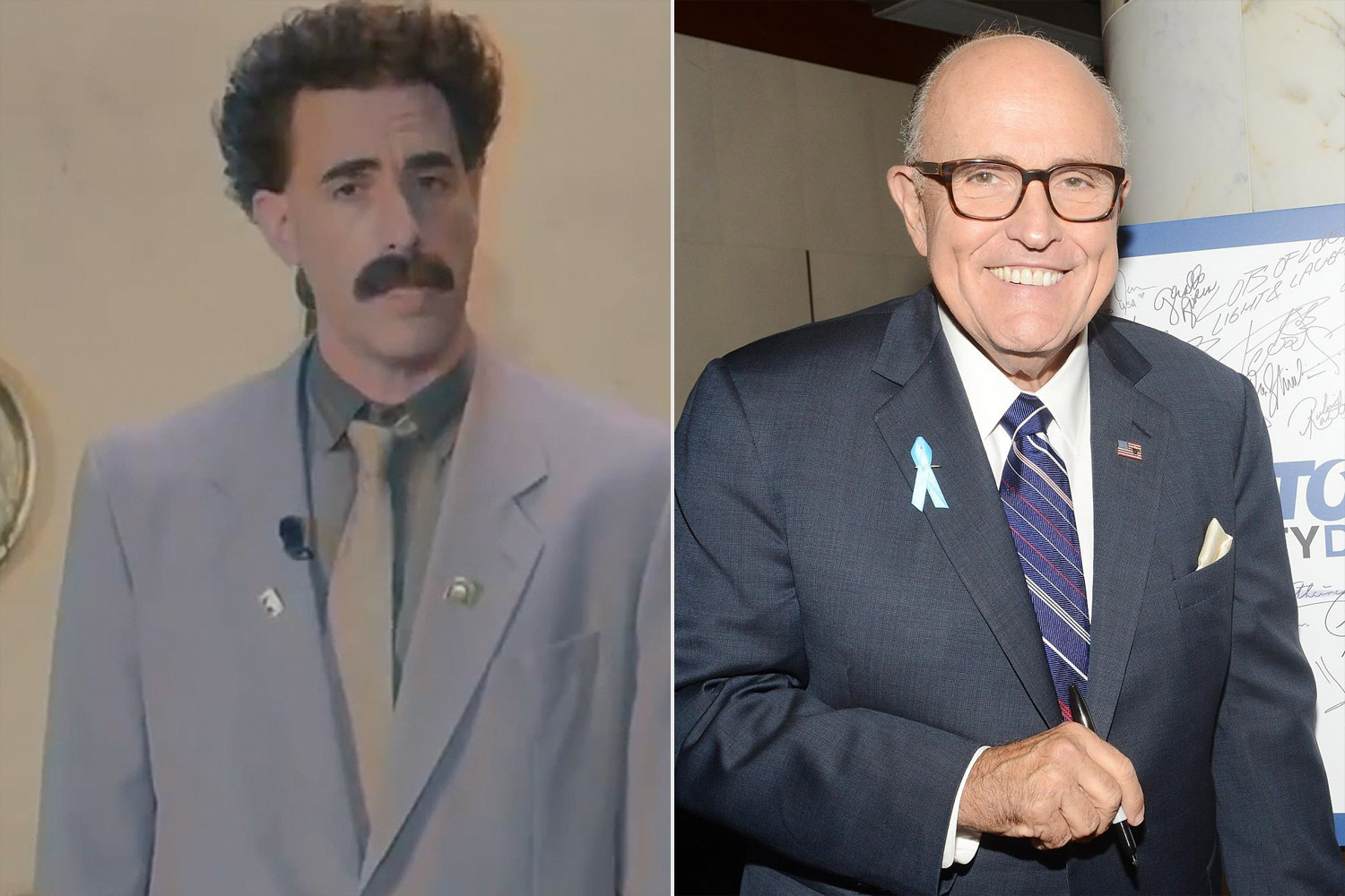 Sacha Baron Cohen As Borat Posts Video To Defend Rudy Giuliani After Leaked Scene People Com