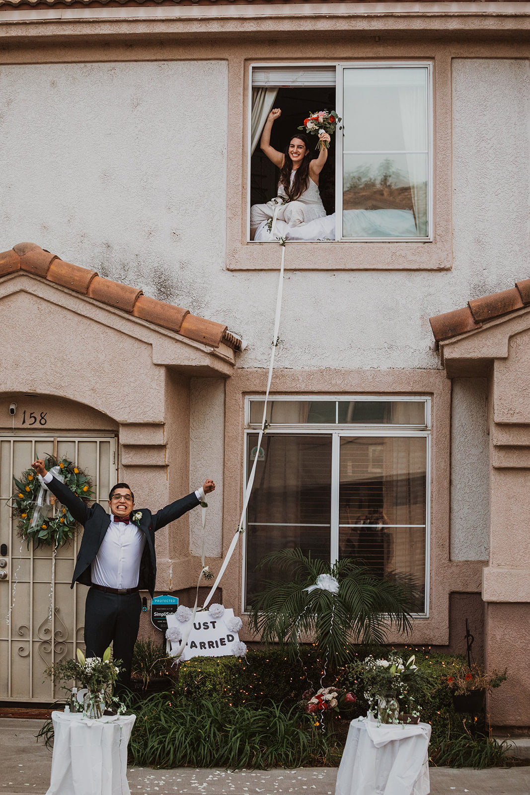 Couple Weds Through Window After Bride Tests Positive For Covid People Com