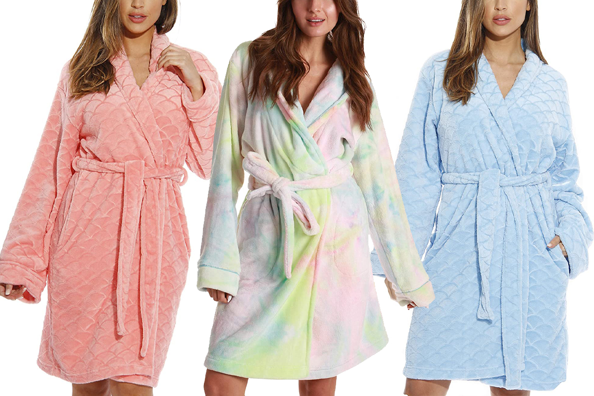 The Just Love Printed Plush Robe Is Just 30 At Amazon People Com